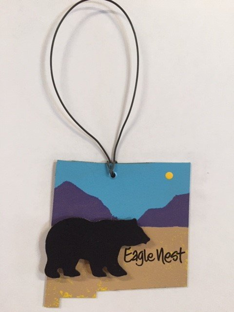 Black Bear/Mountains Saw Metal Art