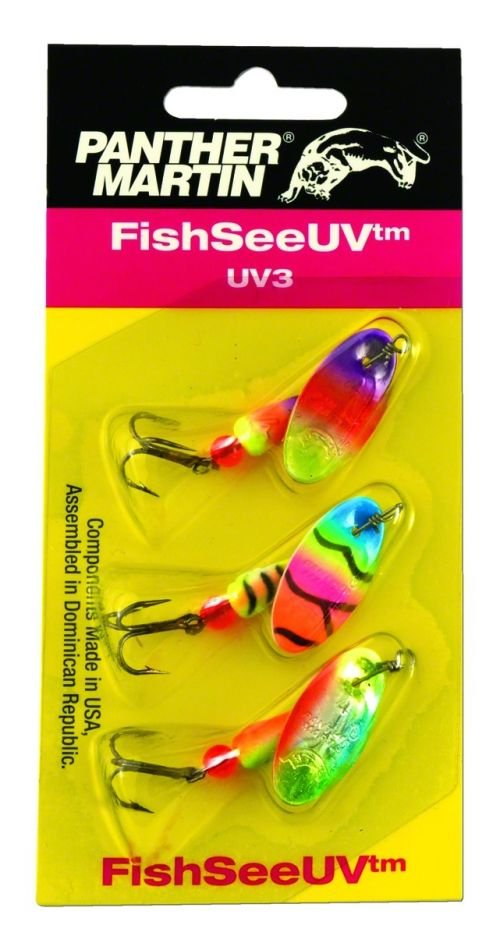 Panther Martin FishSeeUV Ultra Violet 3-Pack