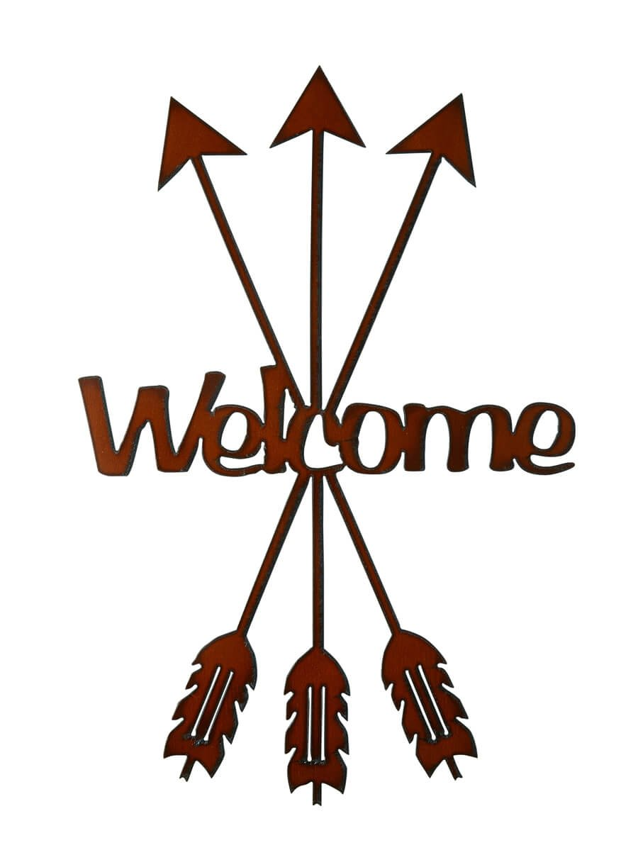 Arrow Welcome Metal Art