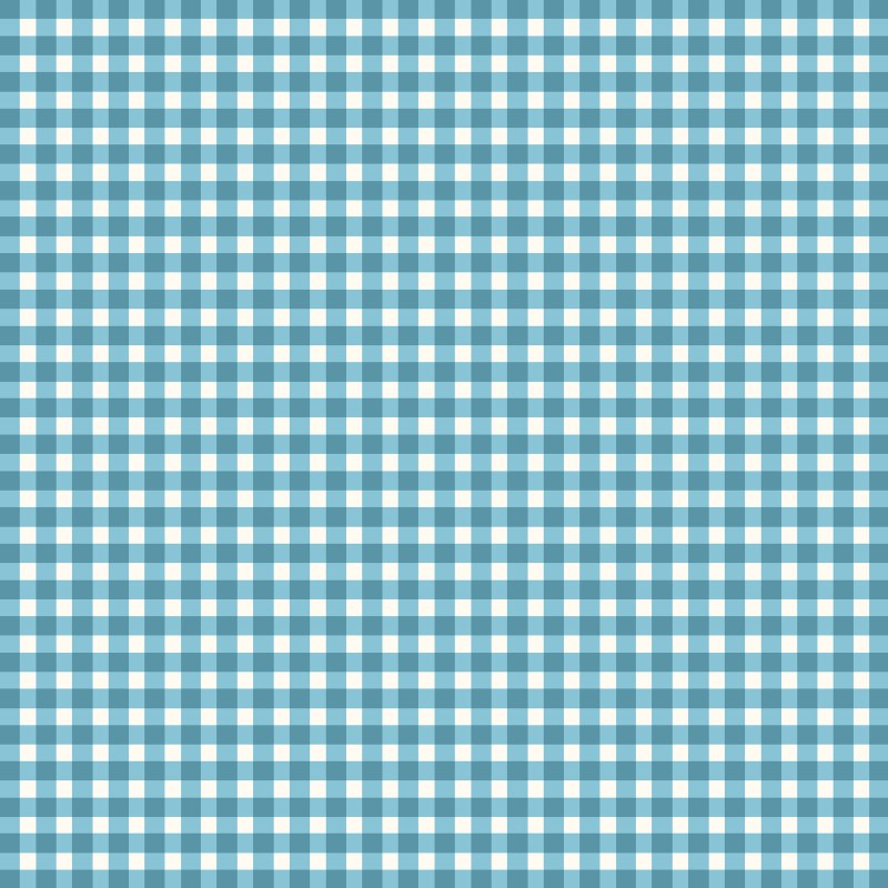 Beautiful Basics Classic Check - Aqua