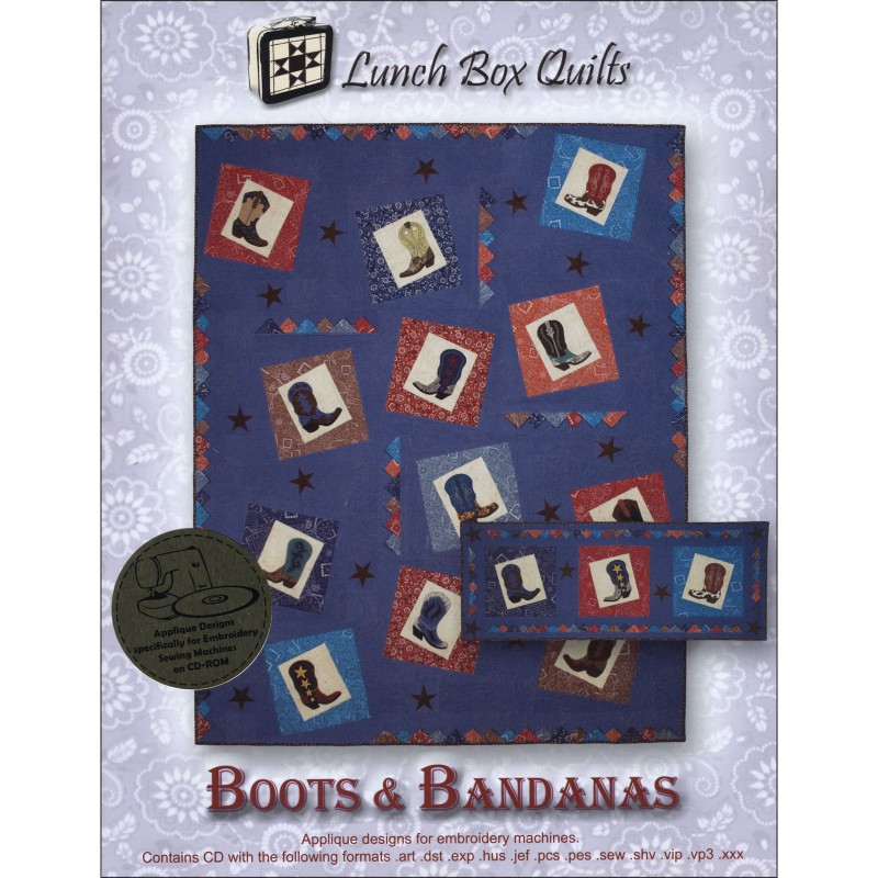 Boots & Bandanas Embroidery Designs