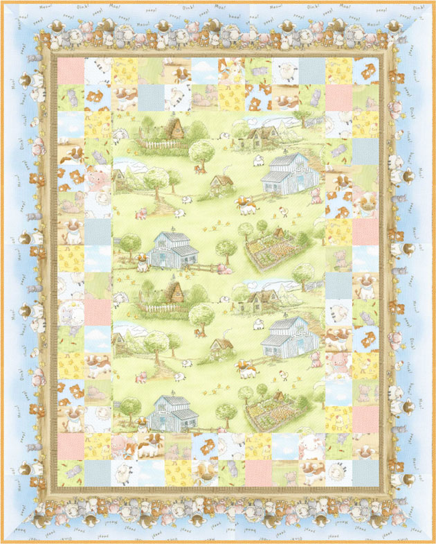 Cotton Tale Farm Play Mat Kit -- includes backing