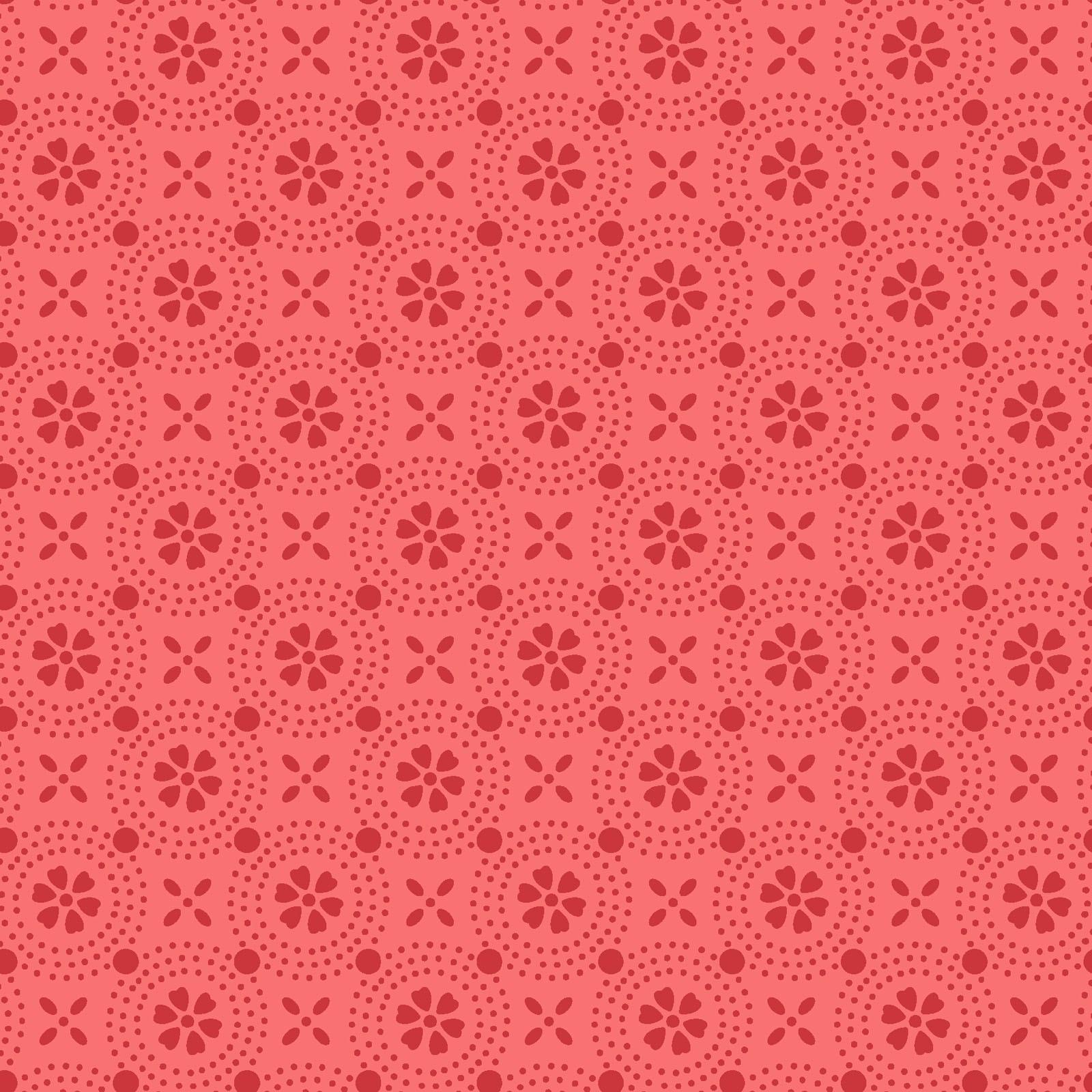KimberBell Basic - Peachy Pink Dotted Circles
