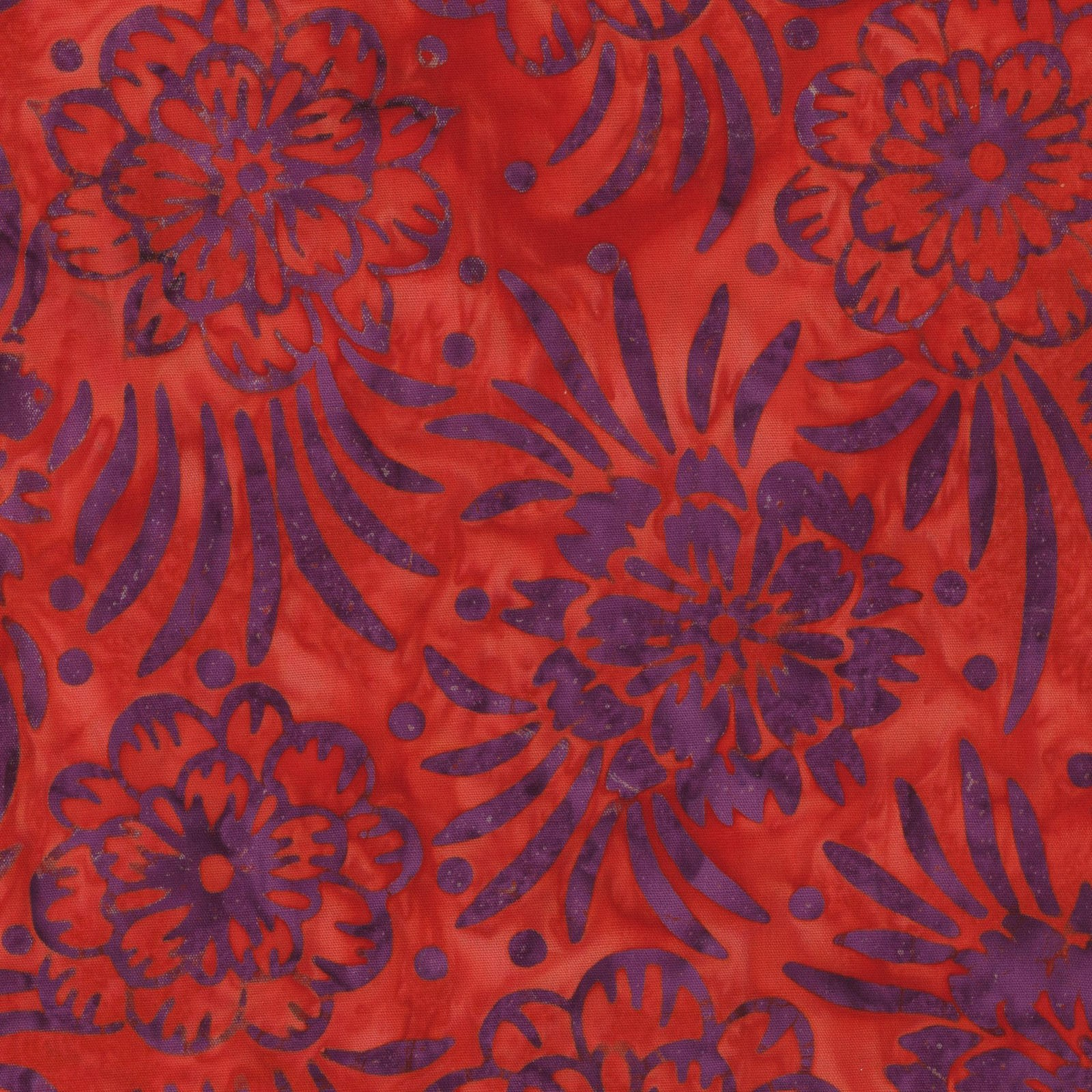 Mango Tango Batik -Orange / Purple
