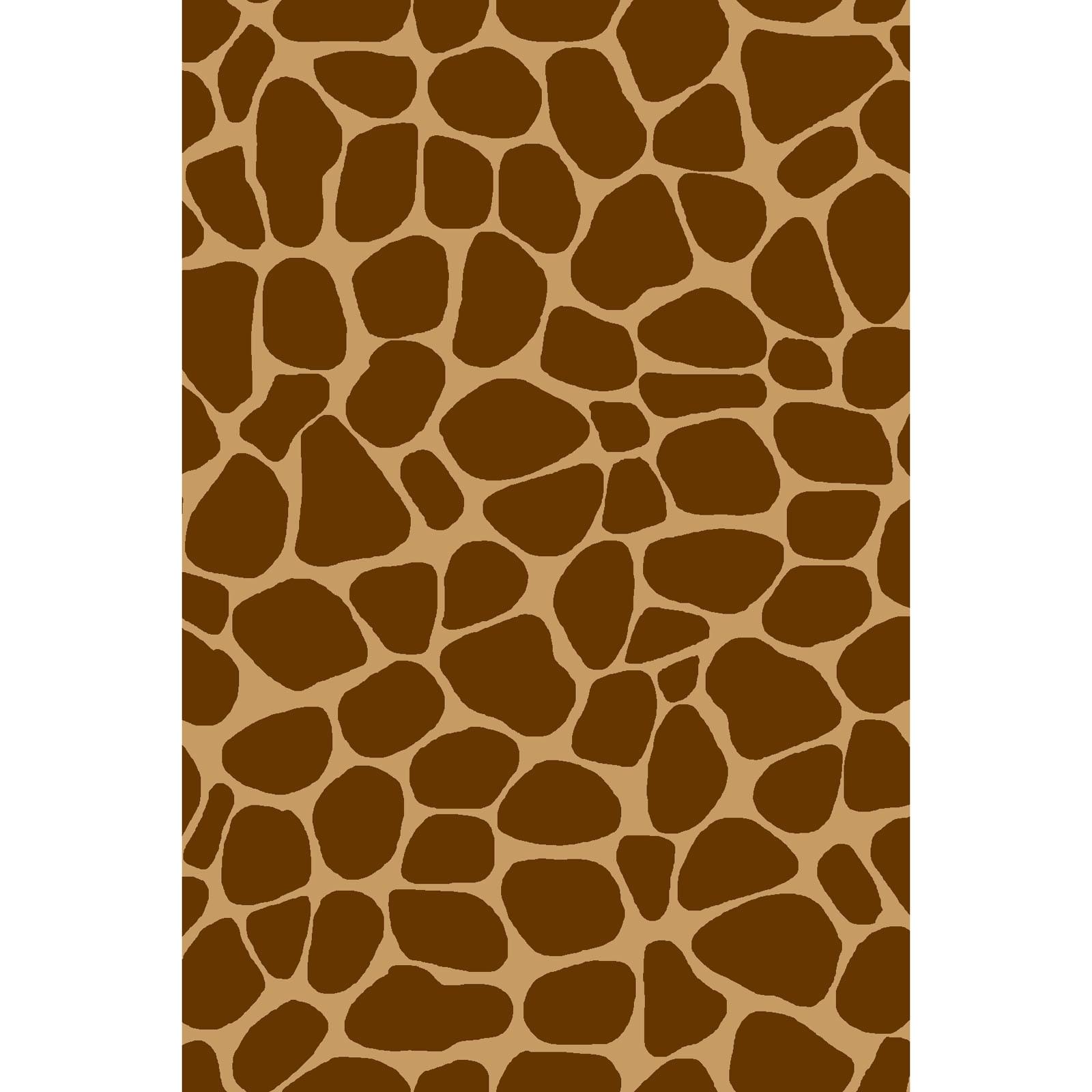 Zoe the Giraffe - Brown Print