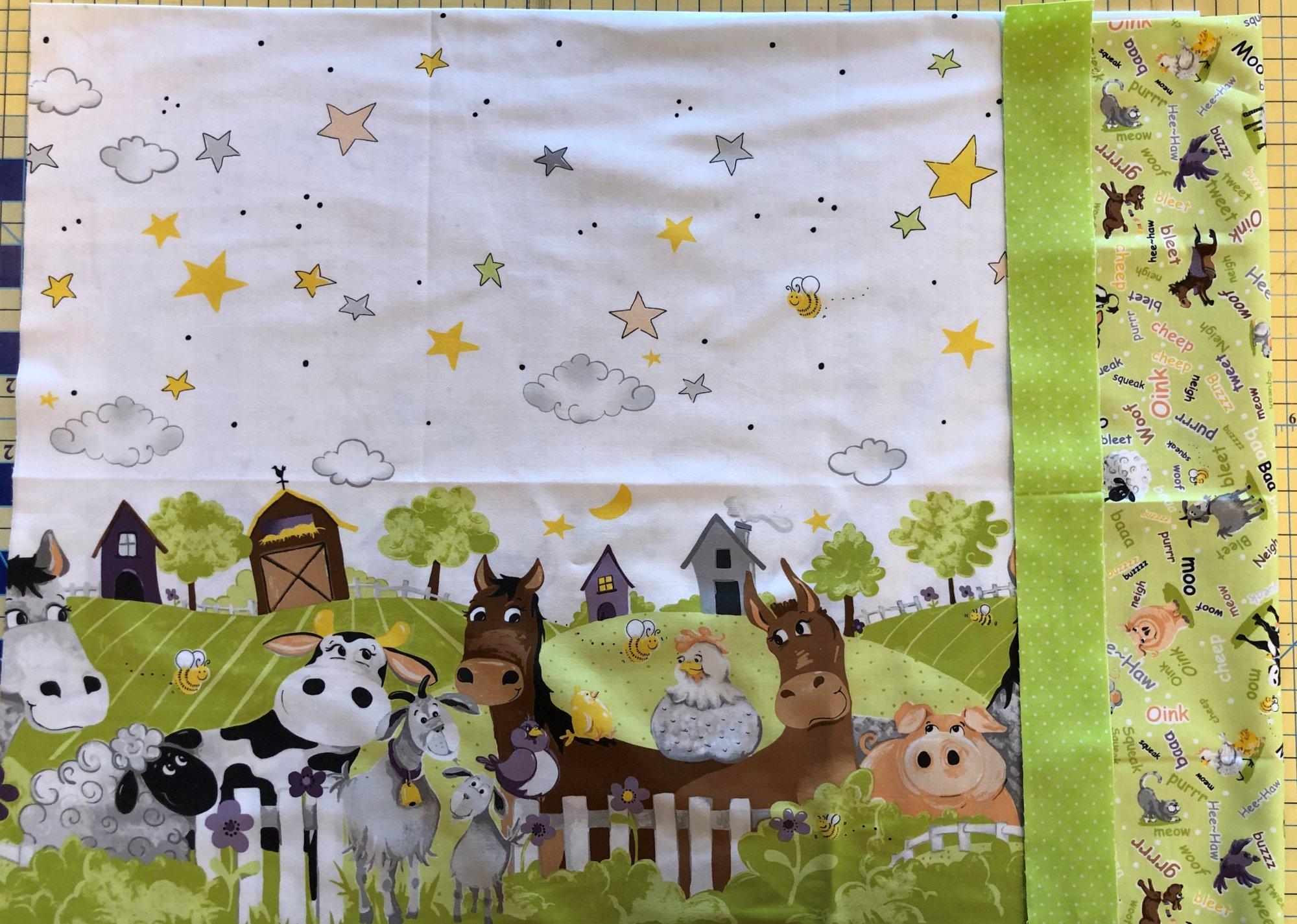 Barnyard Buddies Pillowcase Kit - Green Header