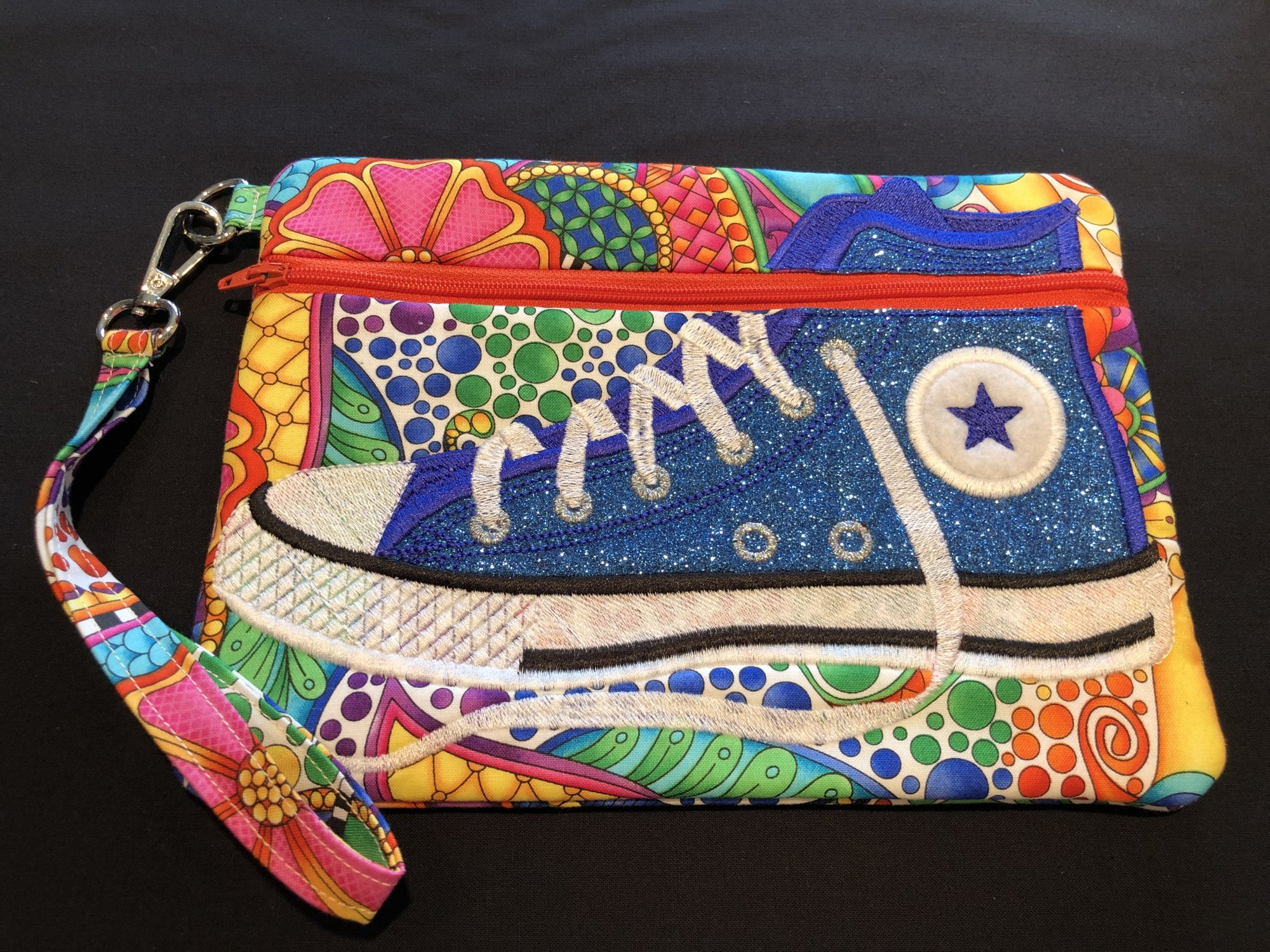 Blue Carnival Tennis Shoe Bag