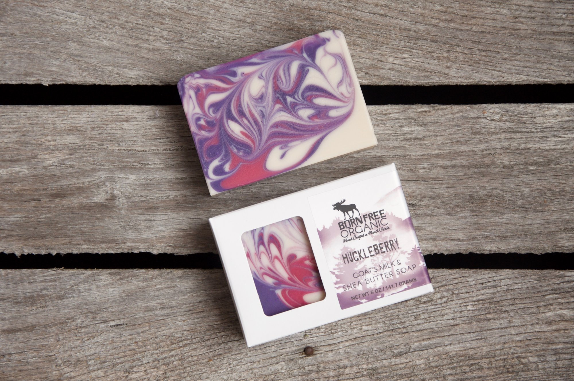 Born Free Organic Huckleberry Soap