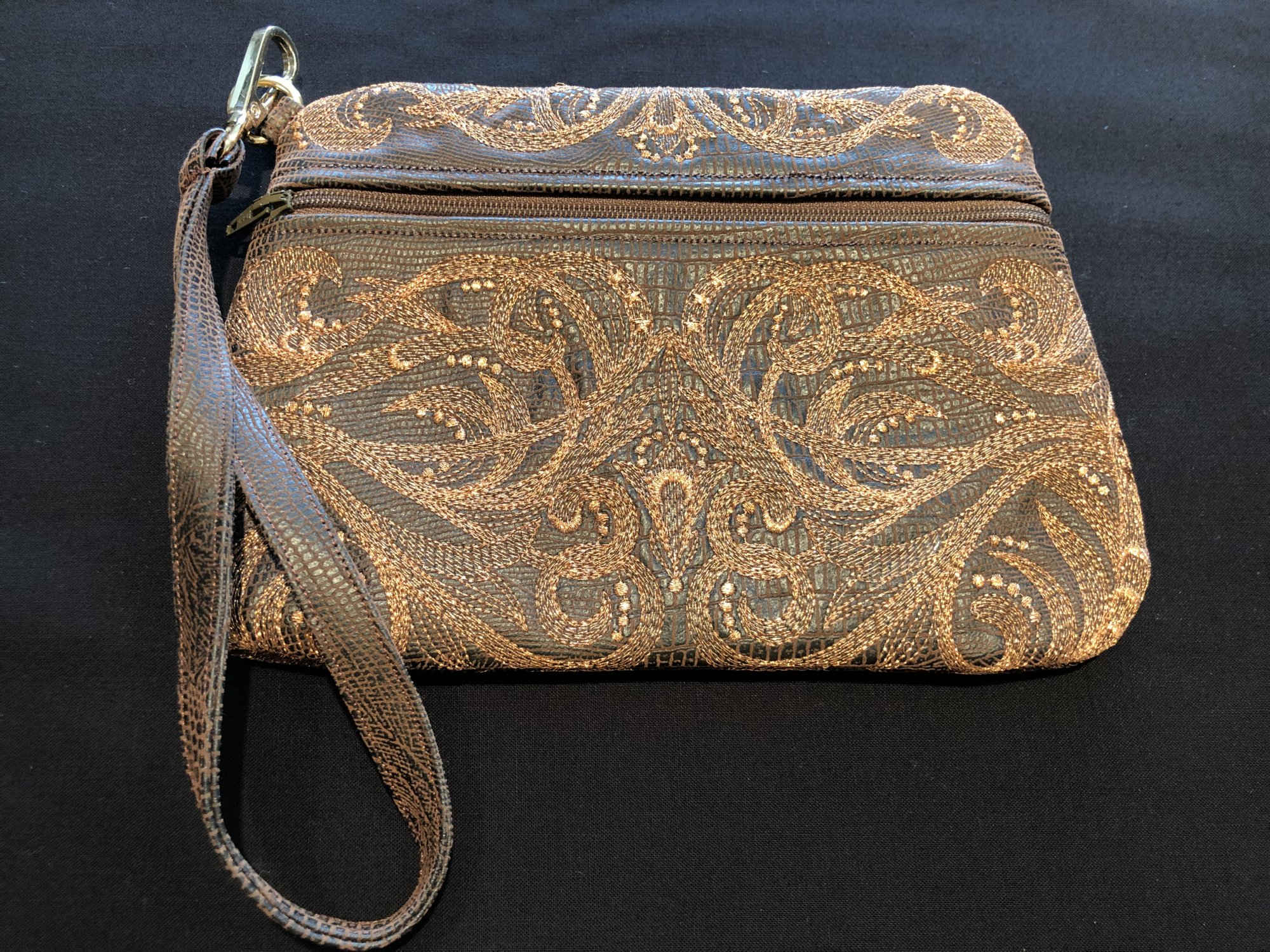 Metallic Copper Clutch Purse