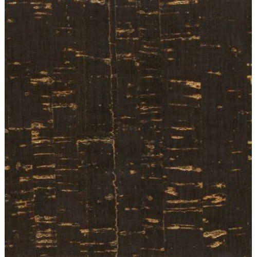 Black with Gold Metallic Cork Fabric