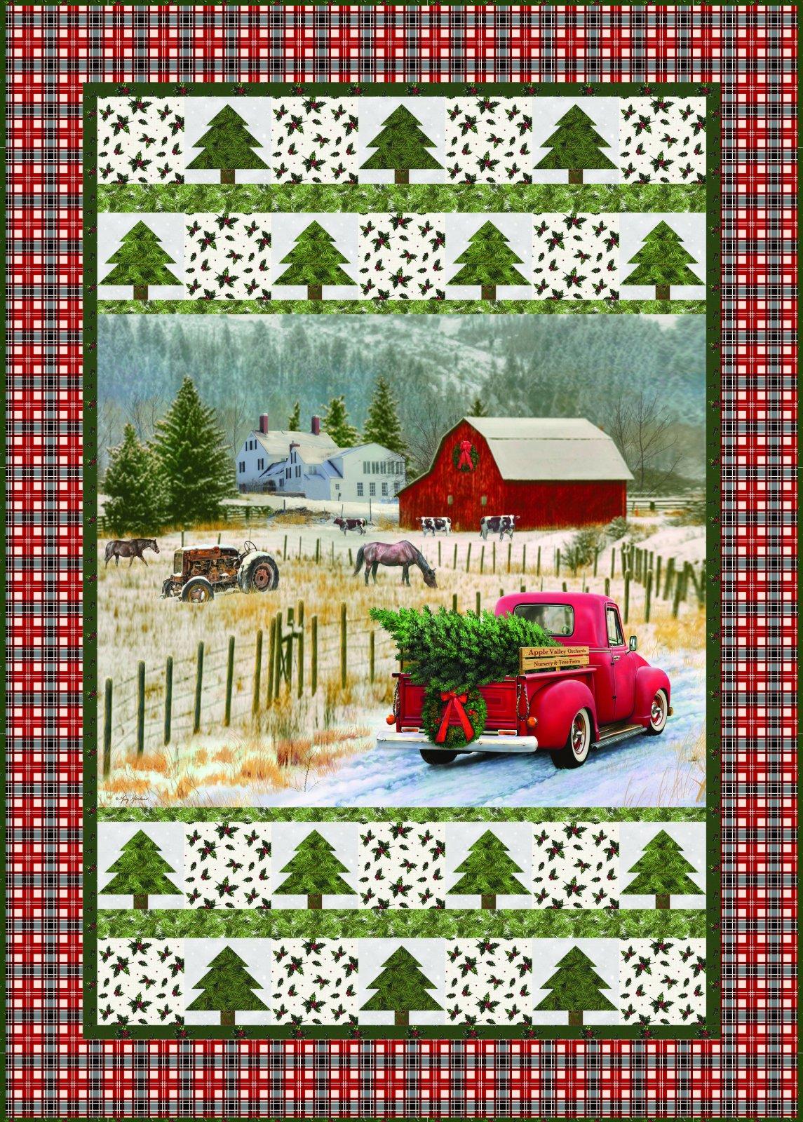 Christmas Memories Truck Kit - Black Plaid