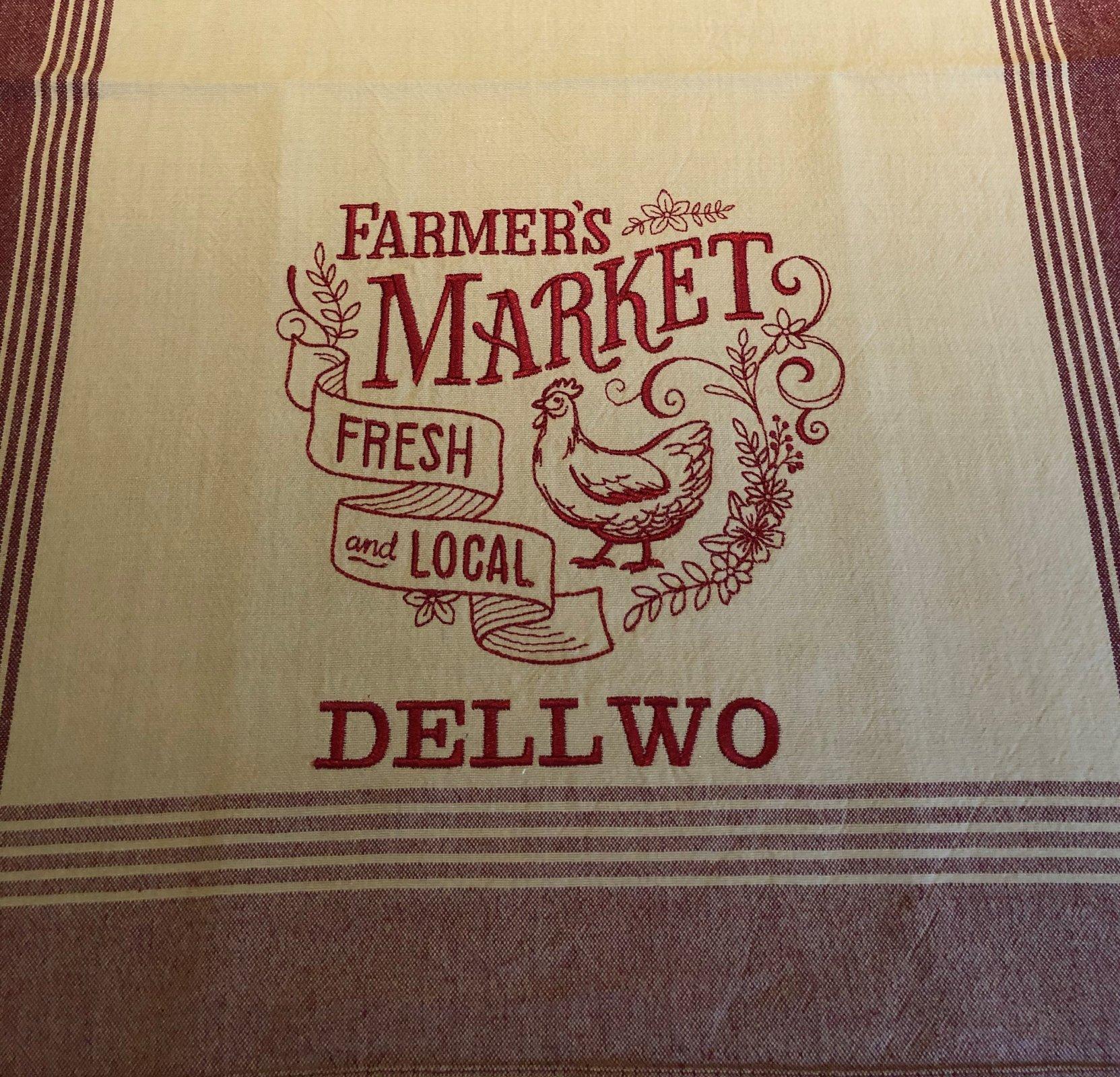 Farmers Market Towel - Personalized