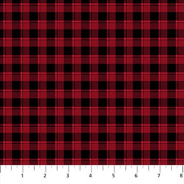Farmhouse Christmas Red and Black Small Plaid