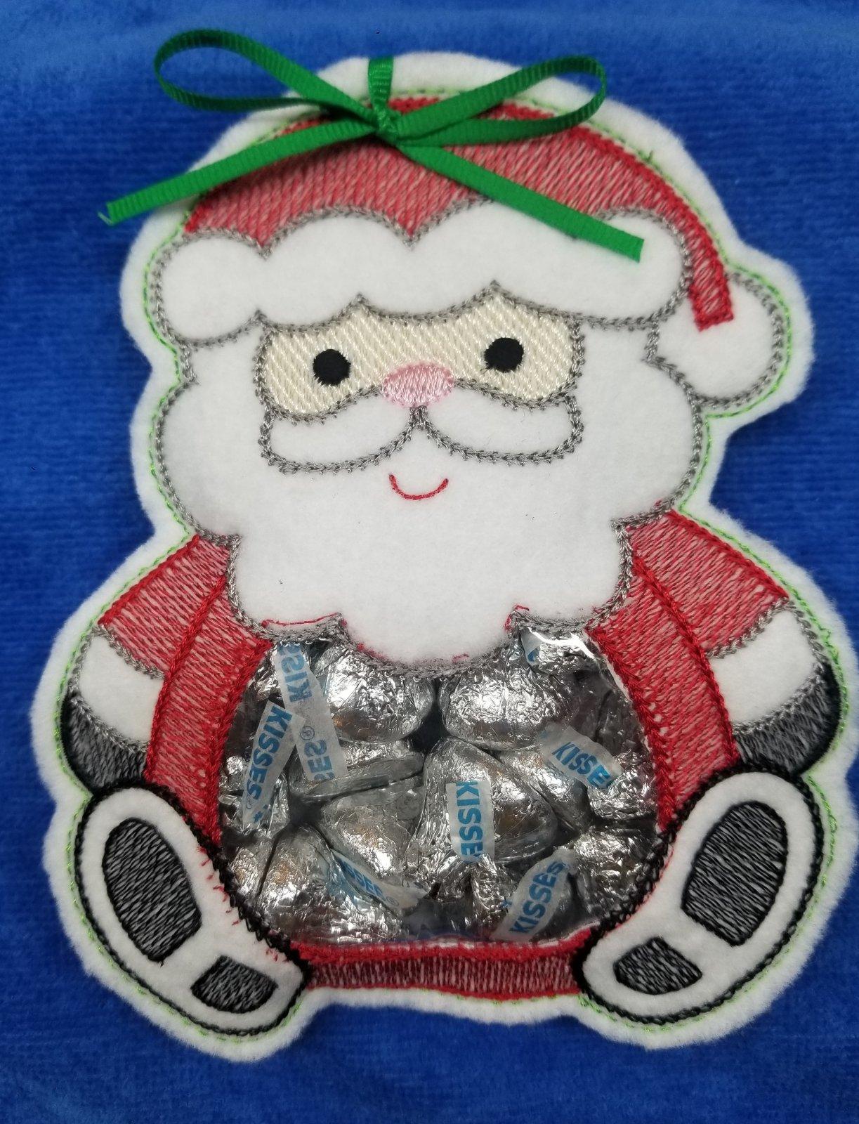 Santa Peek A Boo Treat Bag