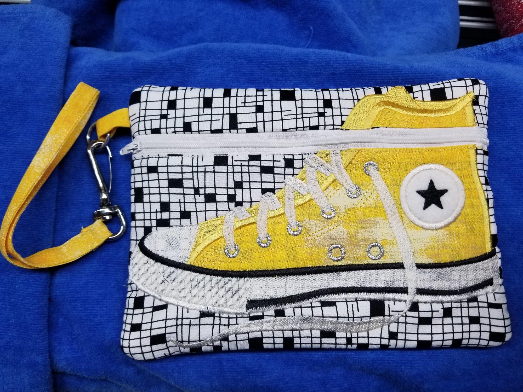 Yellow Tennis Shoe Bag