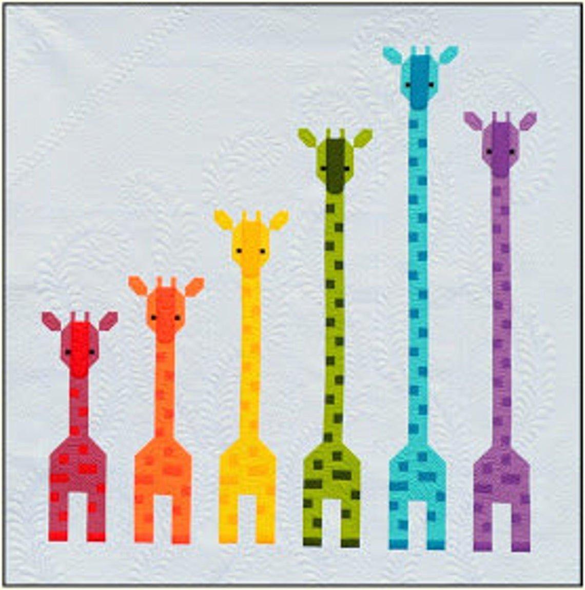 Giraffes in a Row Pattern