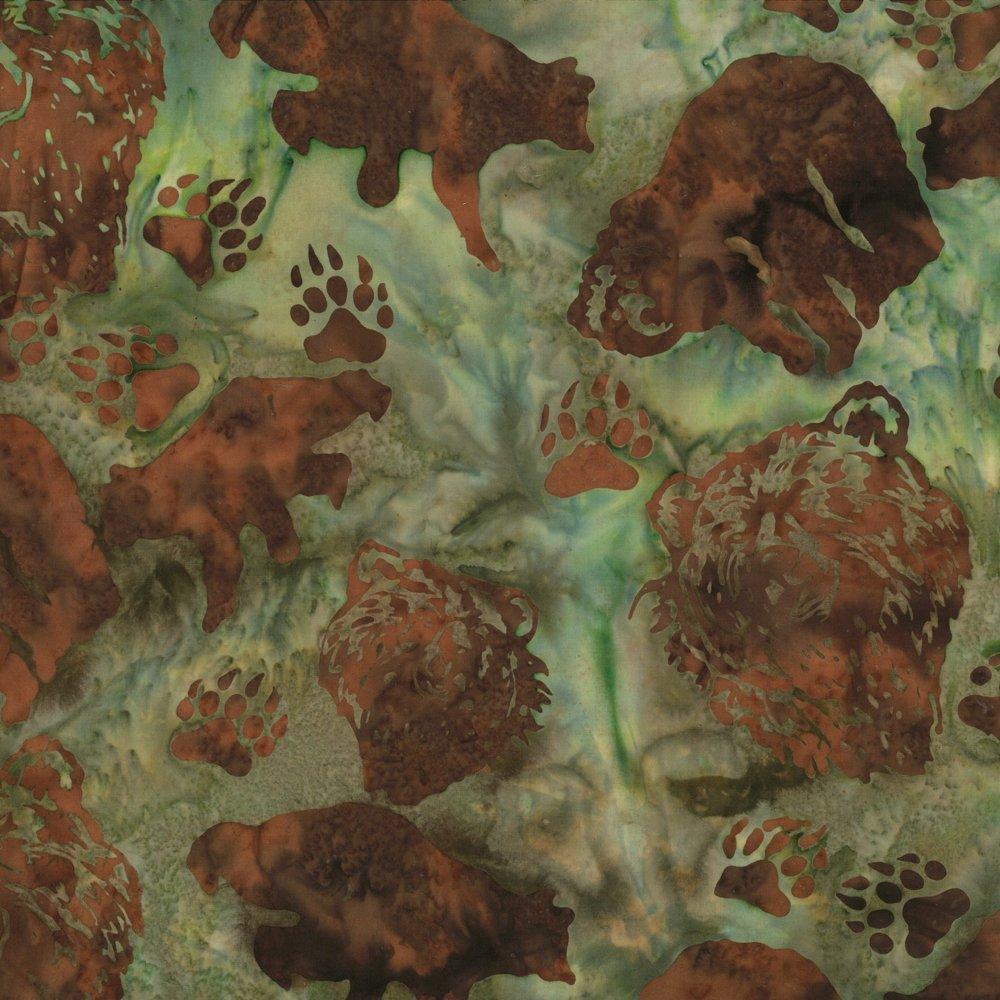 Alaskan Bears Olive Batik