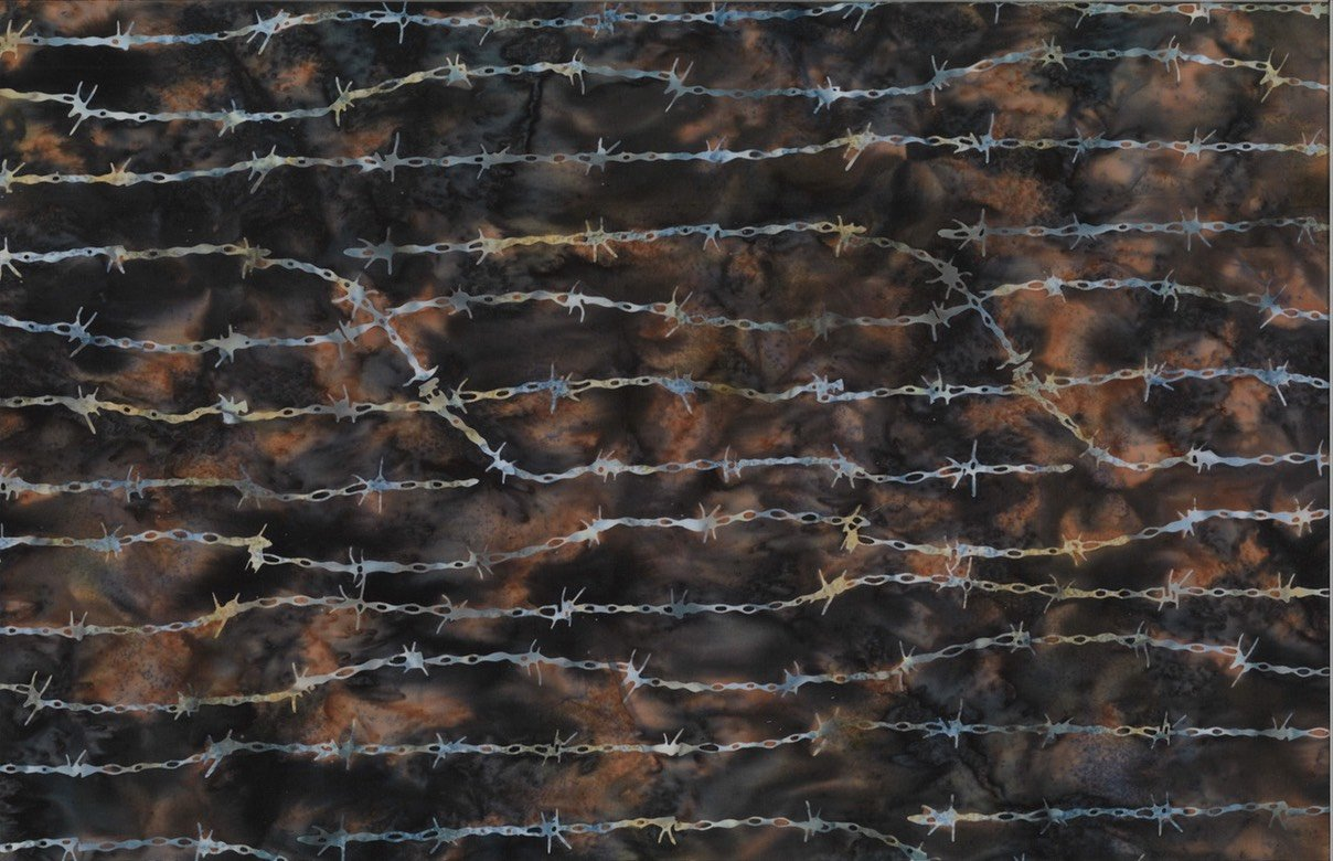 Barbed Wire Walnut Batik