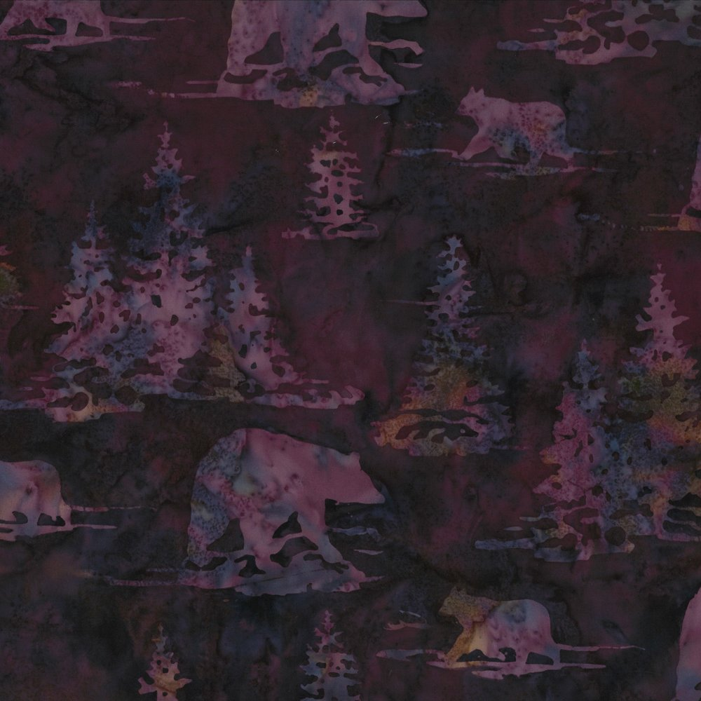 Bears and Pines Marsala Batik