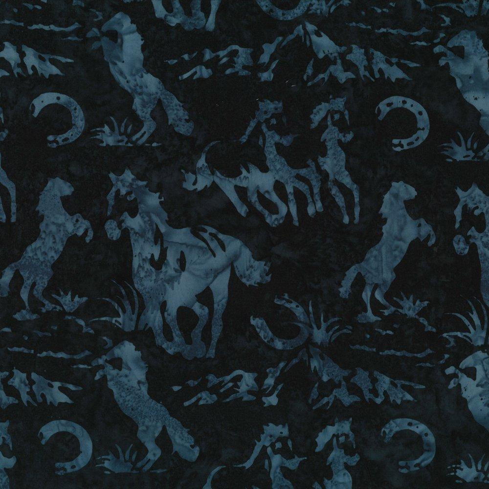 Horses and Horseshoes Macaw Batik