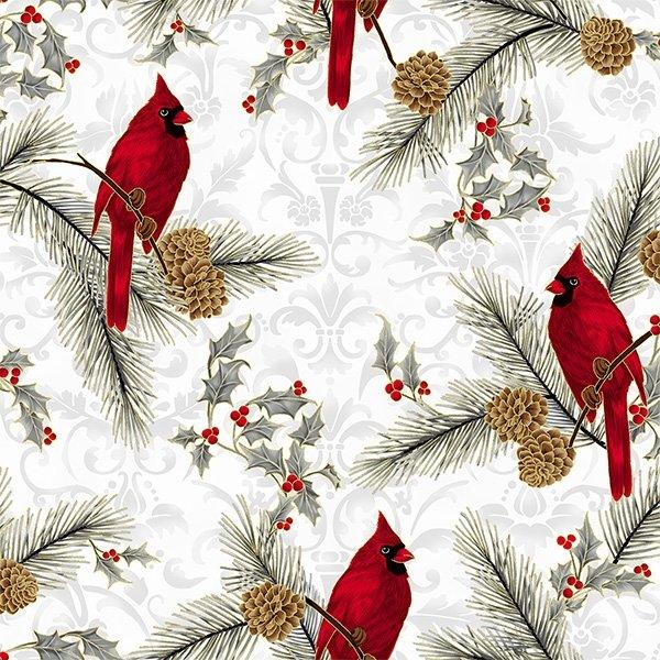 Joyful Traditions - Silver & Gold Cardinals