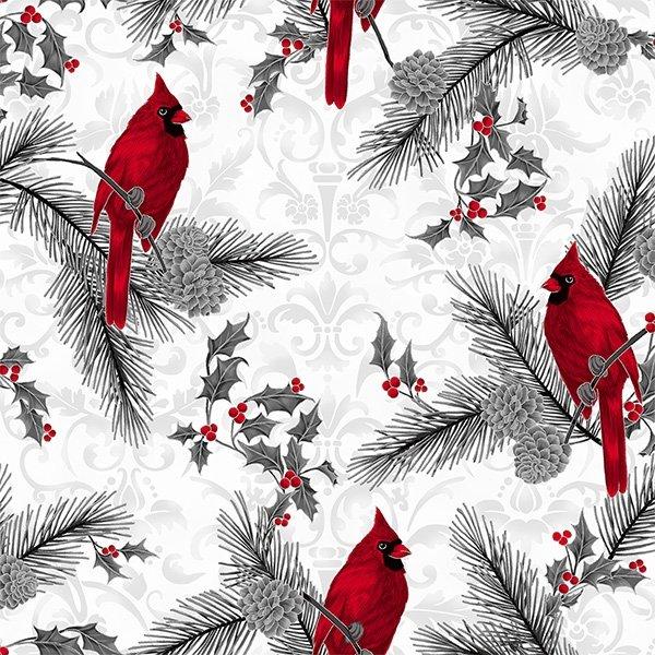 Joyful Traditions - Ice Silver Cardinals