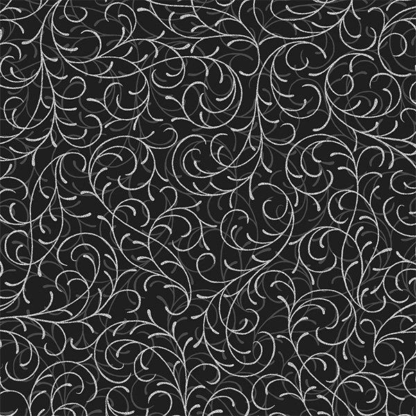 Joyful Traditions - Onyx/Silver Tonal Swirl