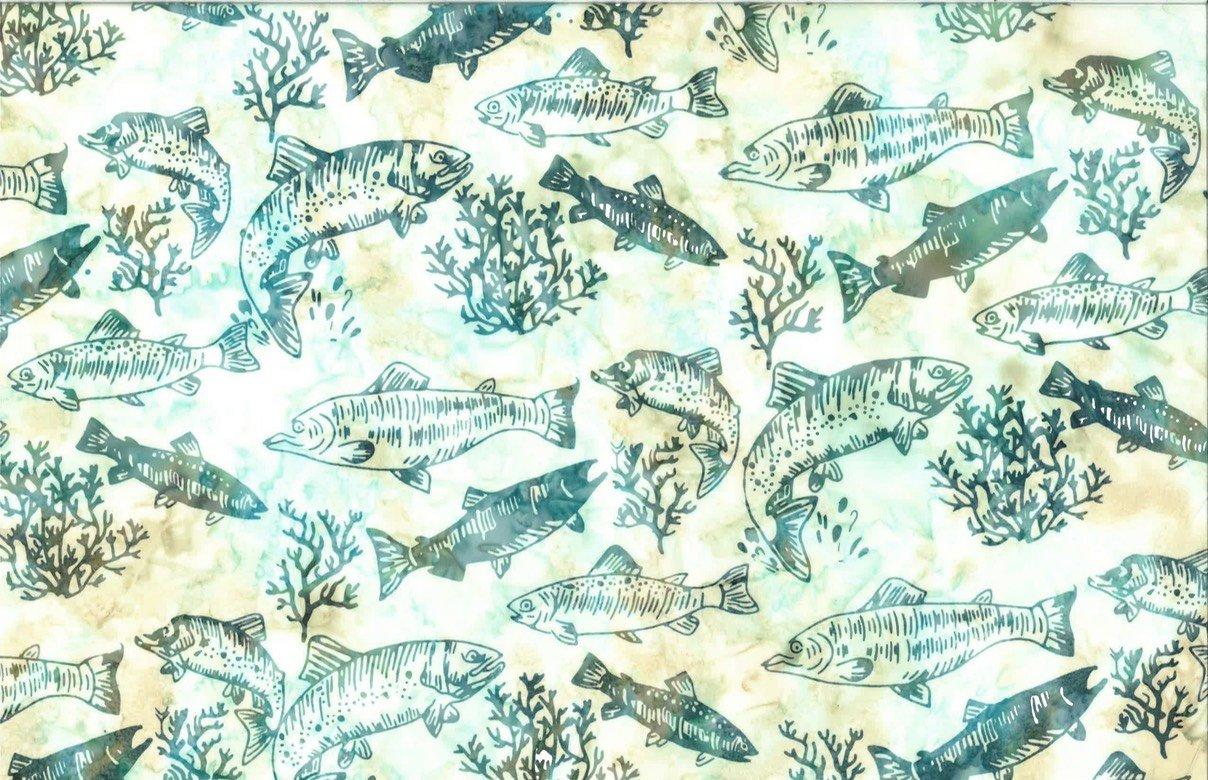 Salmon and Trout - Aqua Batik