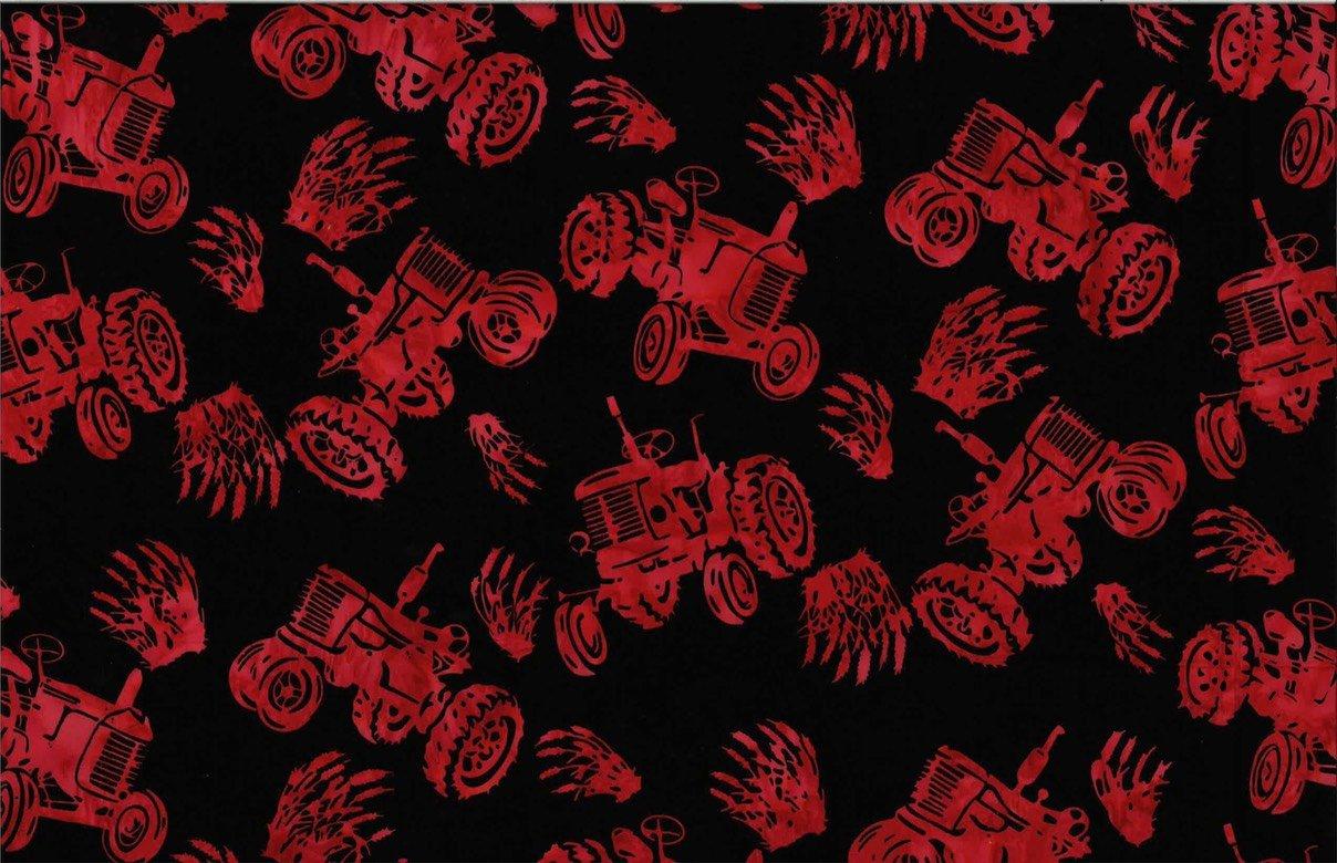 Tractors - Red Batik