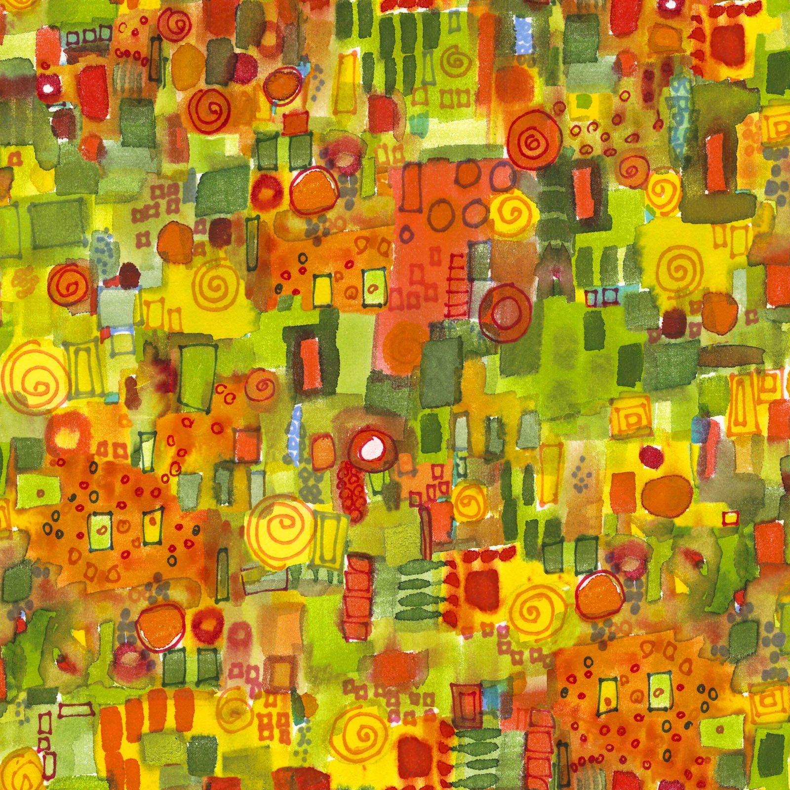 Quilter's Road Trip - Orange & Green