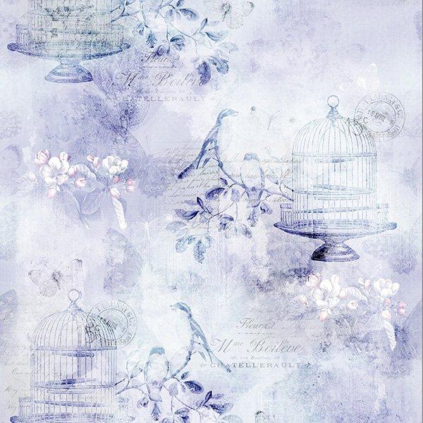 Vintage Farmhouse - Birds In Cages Lavender