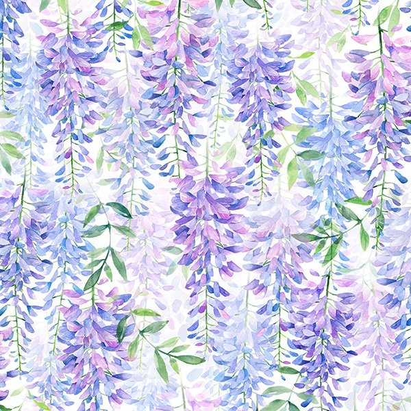 When in Wisteria Light Floral Print