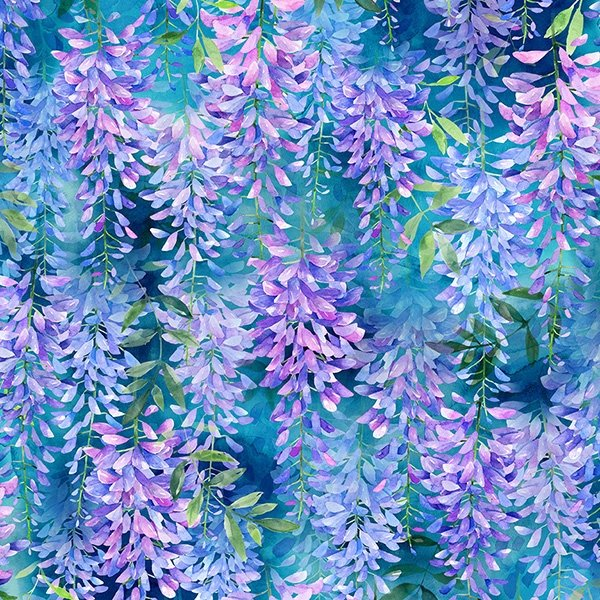 When in Wisteria Hyacinth Floral Print