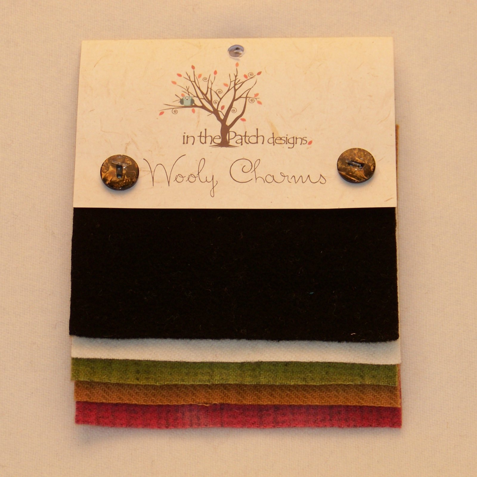 Wooly Charms 5in x 5in Black Tie 5ct