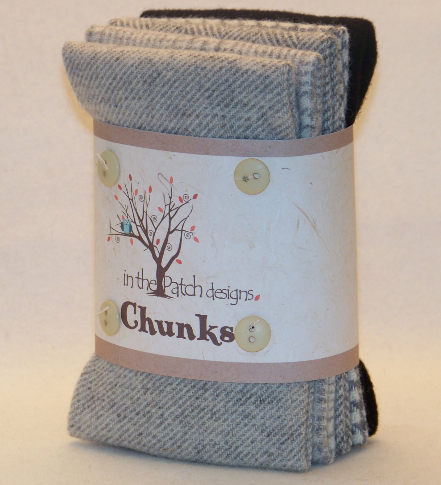 Wool Chunks Felted Greys