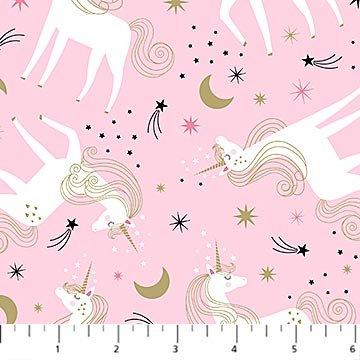 Believe in Magic - pink w/unicorns