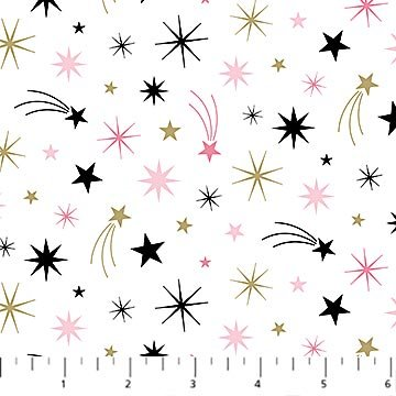 Believe in Magic -  white w/various colored stars