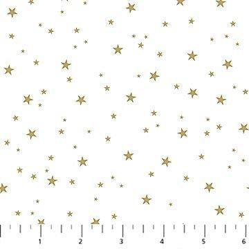 Believe in Magic - white w/gold stars