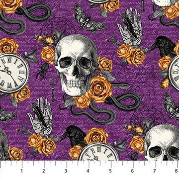 Wicked - Purple multi Skulls etc