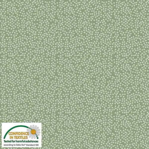Stof Quilters Combo - Green w/misc. dots