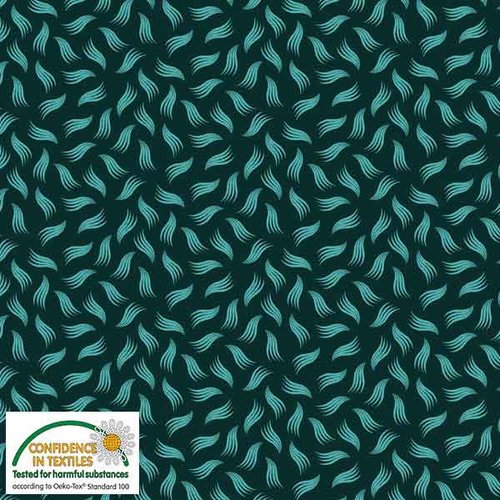 Stof Quilters Combo - green w/wavy lines