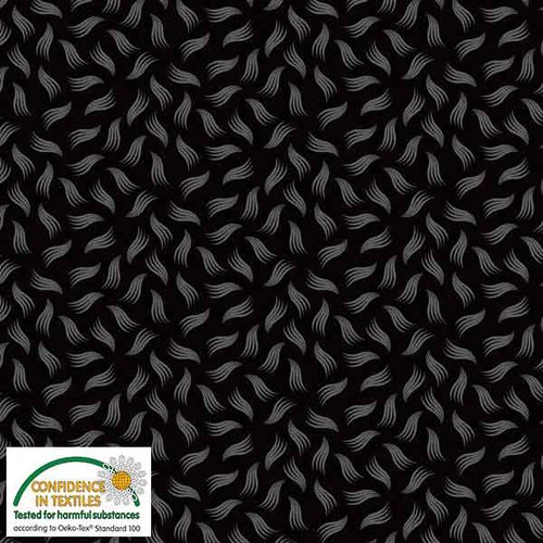 Stof Quilters Combo - Black w/ design