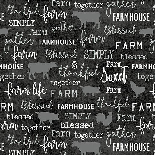 Farm Sweet Farm - Chalkboard Charcoal