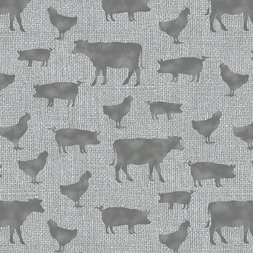 Farm Sweet Farm - Animals on gray