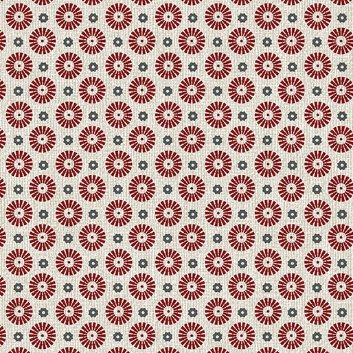 Farm Sweet Farm - pinwheel Red/tan