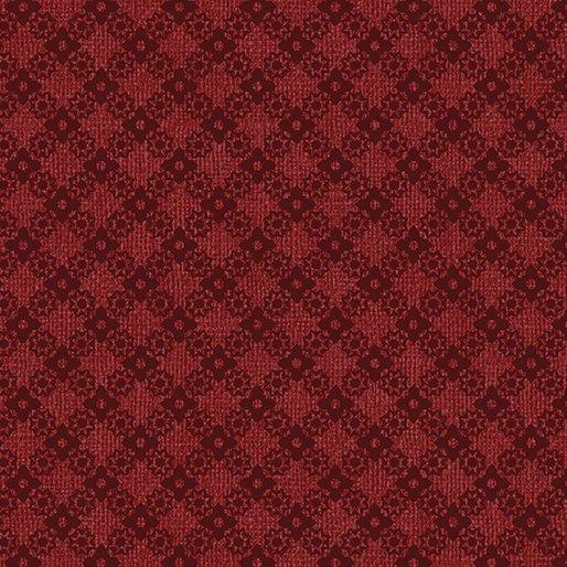 Farm Sweet Farm - Diamond Lattice Dark Red