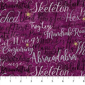 Elegantly Frightful - Purple w/Words