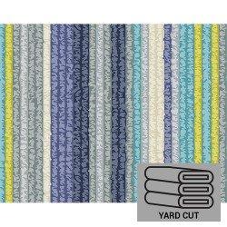 Laminated Cotton - Stripe (malibu) 58 X36