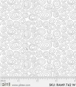 Ramblings 9 - white - various size circles