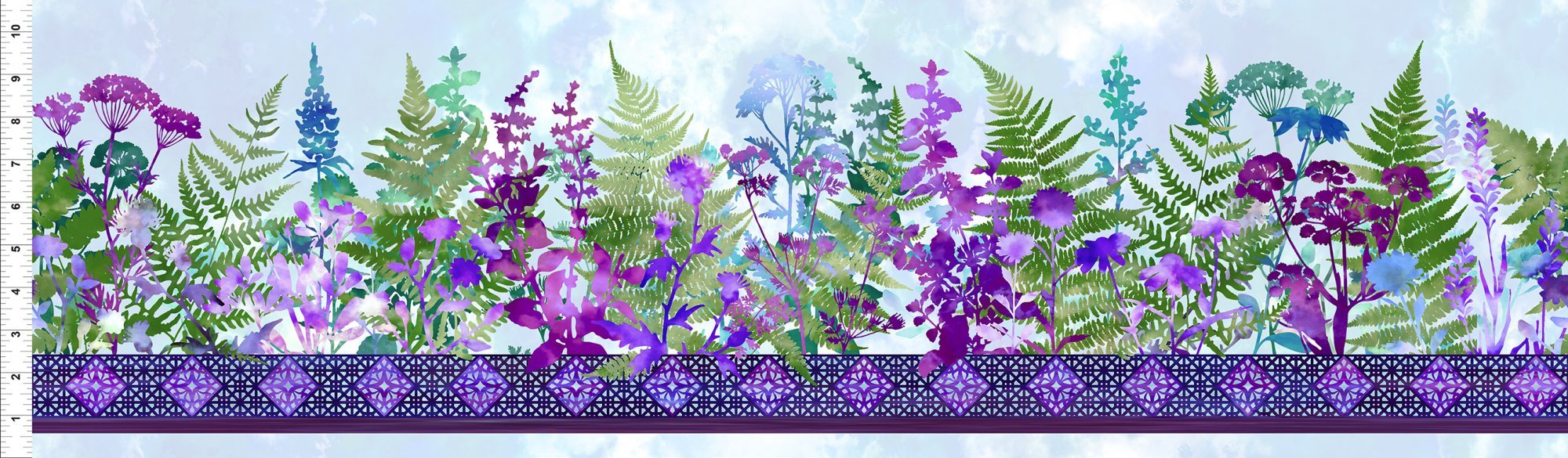 Haven - Border - Purple by In The Beginning Fabrics